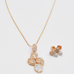 18k Organic Form Diamond Necklace