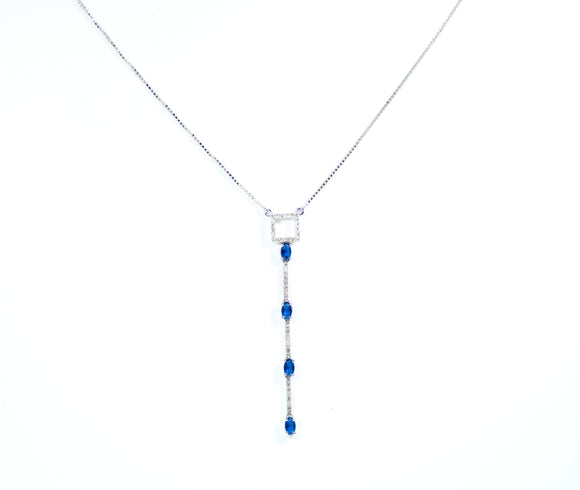 18k Diamond Square Necklace