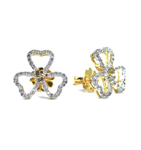 18K Fiore Diamond Earrings - Eraya Diamonds