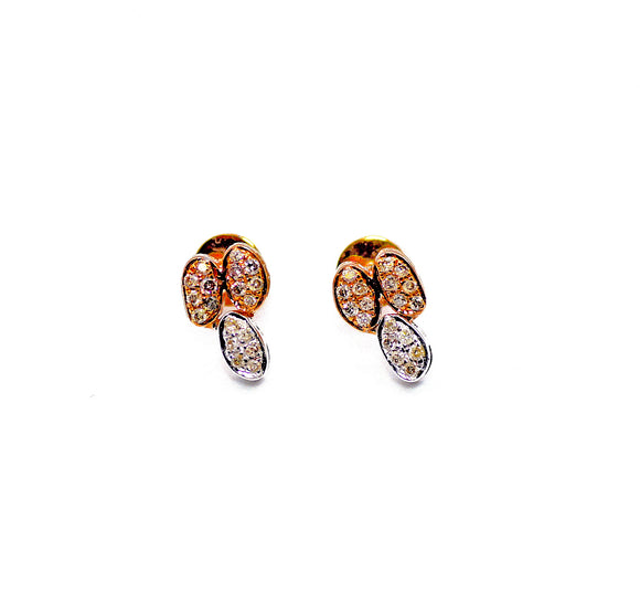 18K Organic Form Diamond Studs - Eraya Diamonds