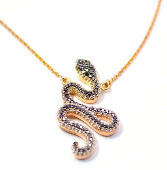18k Serpent Diamond Necklace