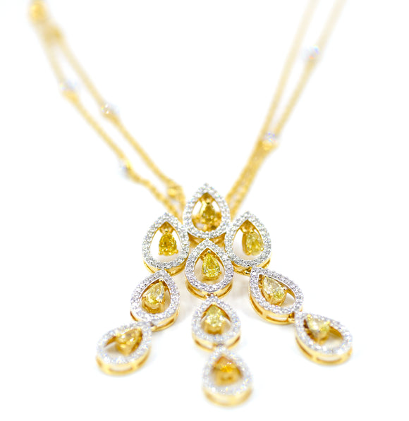 18k Splendor Yellow Diamond Necklace
