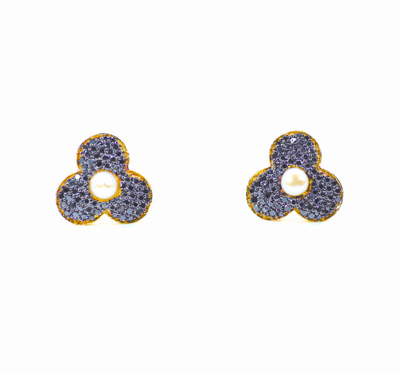 18K Bloom Black Diamond Studs