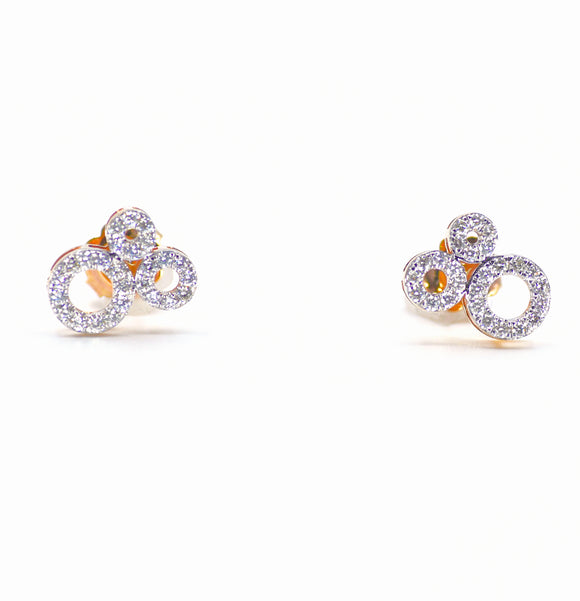 18K Trinity Diamond Earrings