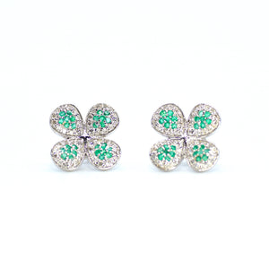 18K Diamond Emerald Adore Earrings