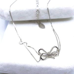 18k Diamond Bow Choker Necklace