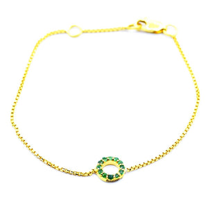 14k gold Emerald Bracelet - Eraya Diamonds