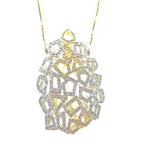14k Honeycomb Diamond Necklace - Eraya Diamonds