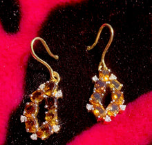 Load image into Gallery viewer, 18k Diamond Tourmaline Danglers