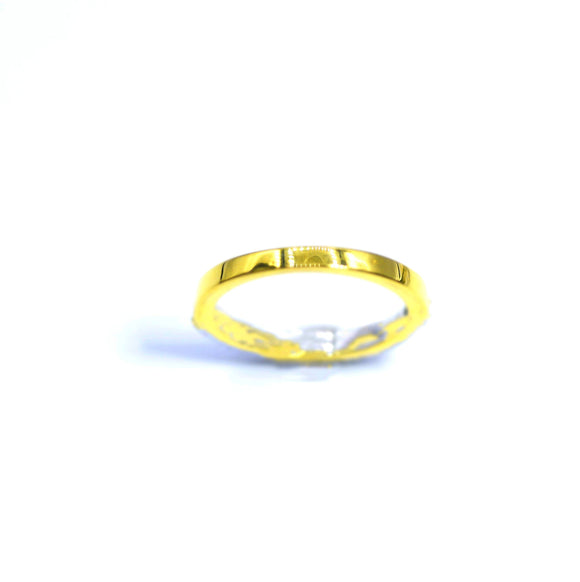 18K FINE GOLD  FLAT WEDDING BAND - Eraya Diamonds