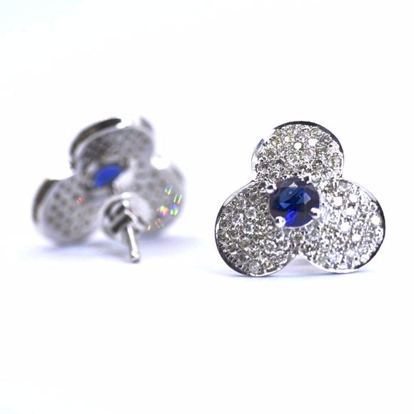 18K Bloom Diamond Studs - Eraya Diamonds