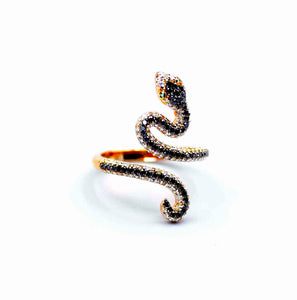 18k Diamond Serpent Ring - Eraya Diamonds