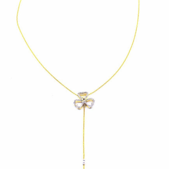 18k Diamond Fiore Lariat Choker Necklace - Eraya Diamonds