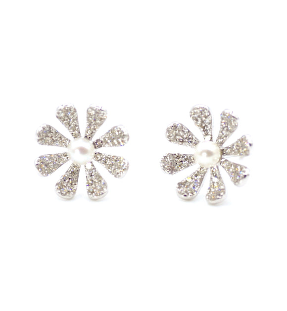 18K Frost Fleurette Diamond Earrings