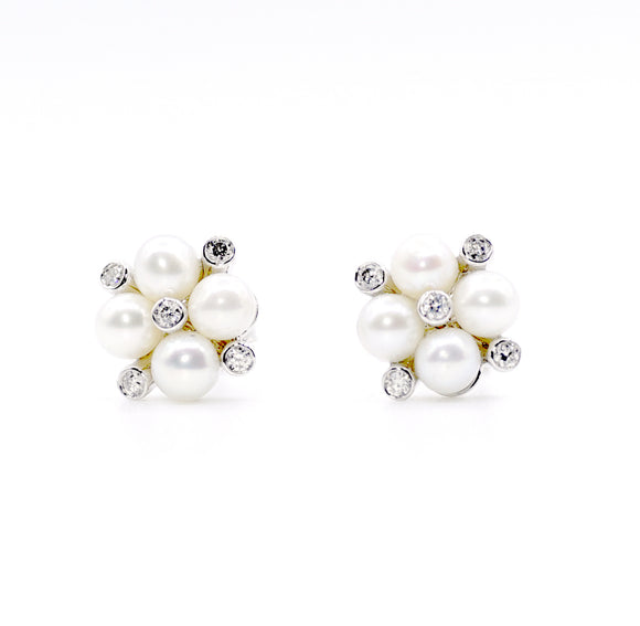 18k Frost Fiore Diamond Earrings