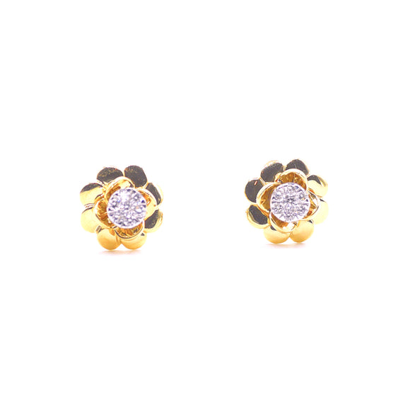 18k Rosa Diamond Earrings