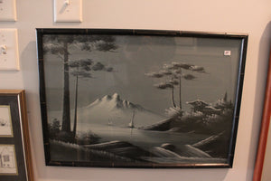 Nature Print With Black Frame