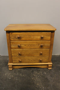 Four Drawer Oak End Table