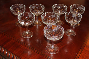 Crystal Grape Etched Dessert Glasses