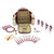 Greenfield Collection Deluxe Picnic Backpack Hamper for Four People with Matching Picnic Blanket The Greenfield Collection