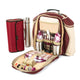 Greenfield Collection Super Deluxe Picnic Backpack Hamper for Two People with Matching Picnic Blanket