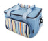 Greenfield Collection Sky Blue 20 Litre Foldable Family Cool Bag