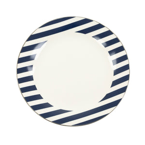 Greenfield Collection 7'' China Plate Blue Stripe The Greenfield Collection
