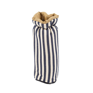Greenfield Collection Midnight Blue Stripe Bottle Cover The Greenfield Collection