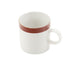 Greenfield Collection Red China Cup with Gold Rim