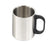 Greenfield Collection Insulated Stainless Steel Flask and 4 Mugs