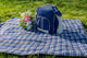 Greenfield Collection Set of Two Luxury Plaid Moisture Resistant Picnic Blankets The Greenfield Collection