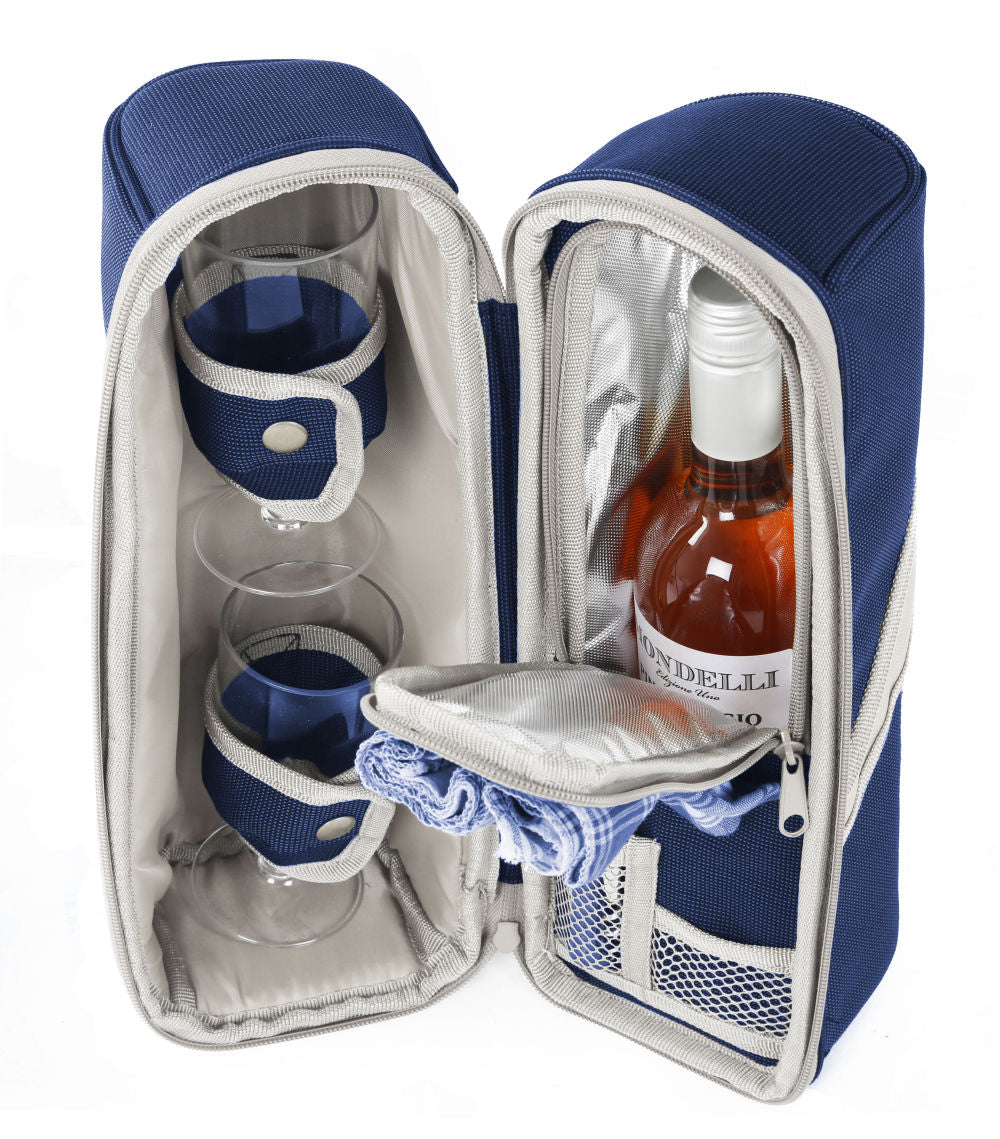 Greenfield Collection Deluxe Wine Cooler Bag for Two People