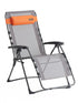 Westfield Outdoors Portal Grey and Orange Foldable Zero Gravity Lounger Chair with Detachable Pillow