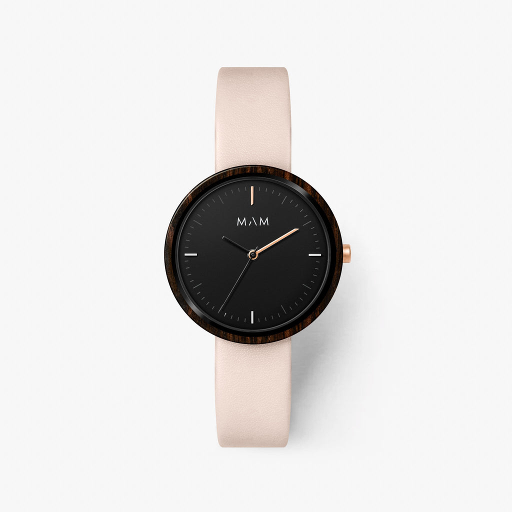 Rose gold watch wood Mam Originals | PLANO 653