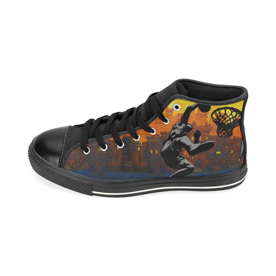 GTS-03-B Aquila Men's High Top Canvas Shoes (Model 017) (Large Size)