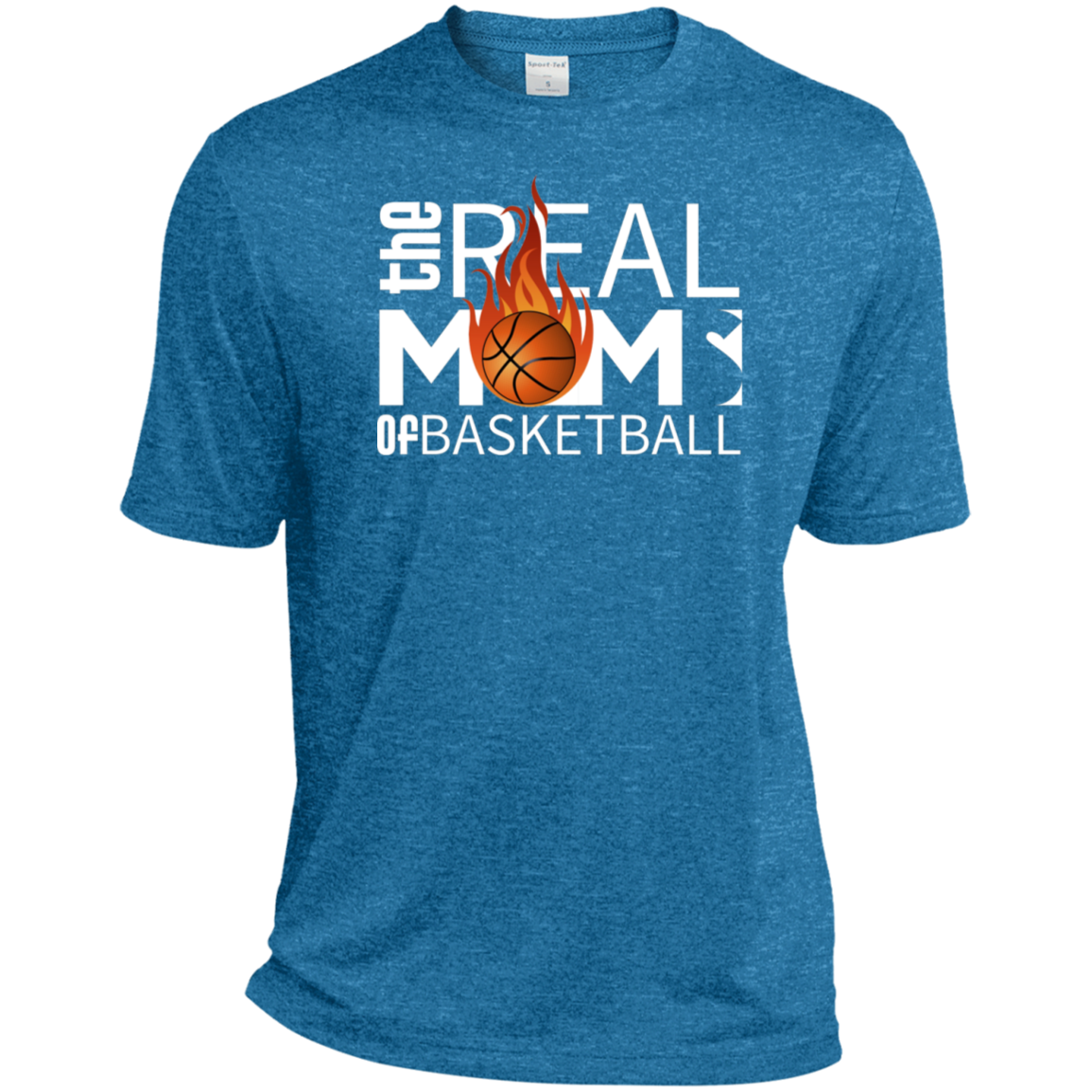 GTStyles The Real Moms Of Basketball Sport-Tek Heather Dri-Fit Moisture-Wicking T-Shirt
