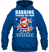 Christmas gift dabbing through the snow