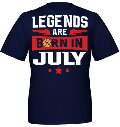 Legends are born in July Basketball T shirt and Hoodies