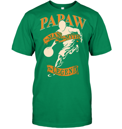 Papaw The man the myth the legend basketball t shirt