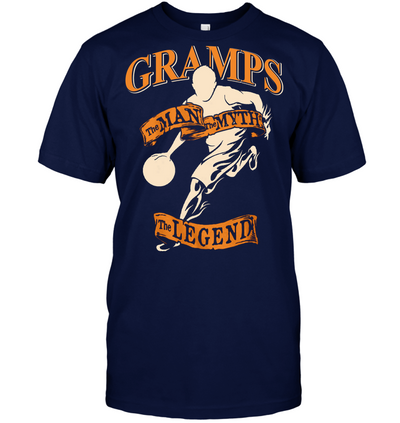Gramps The man the myth the legend basketball t shirt