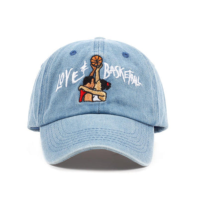 Love & Basketball Embroidery Dad Hat