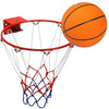 "32cm/12.6"" Stainless Steel Basketball Hoop with 20cm/8"" Rubber Ball for Kids"