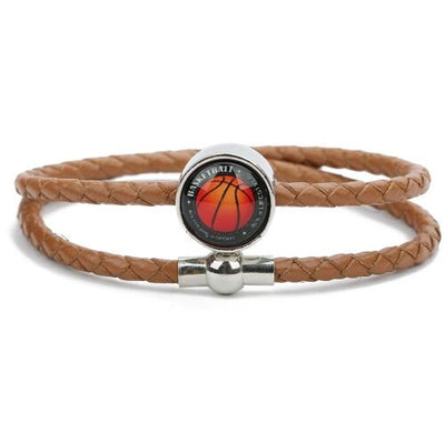 Basketball Long Leather Bracelet