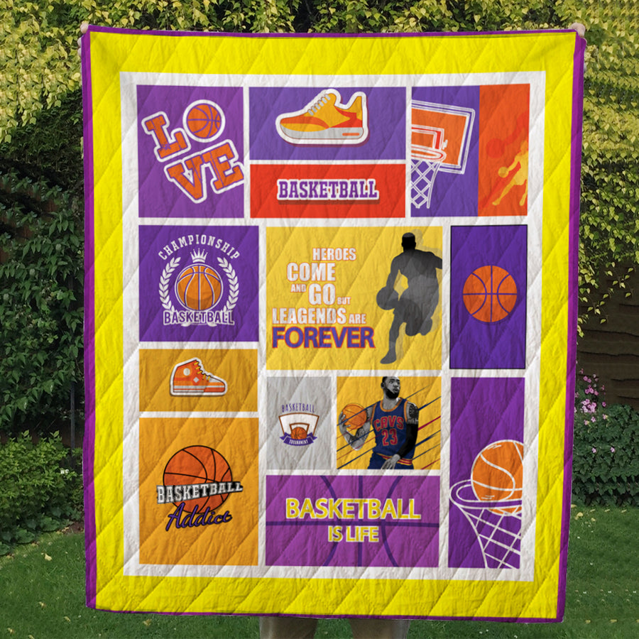 GTStyles Basketball Legends are forever Quilt Blanket - Free Shipping for 24hrs only