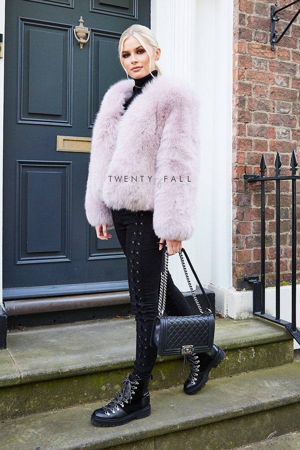 Full Pelt Cropped Fox Fur Coat