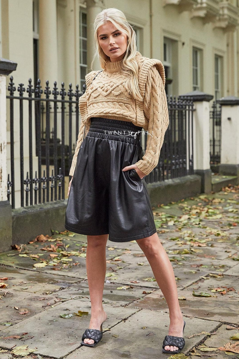 Cora Leather Shorts