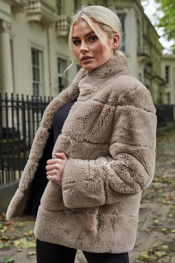 Faux Fur Lola Mocha Coat