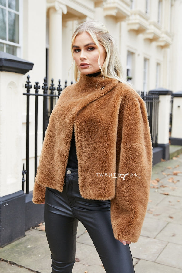 Mara Short Shearling Coat