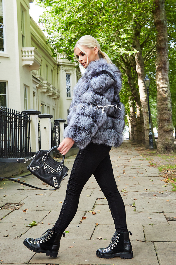 Silver Fox Fur 5 Ring Coat
