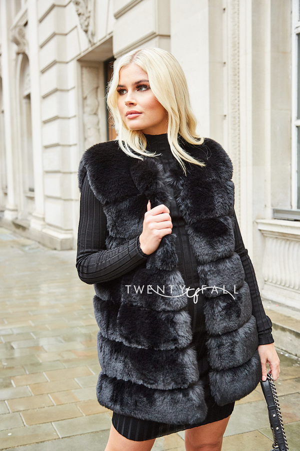Faux Fur Black Gilet